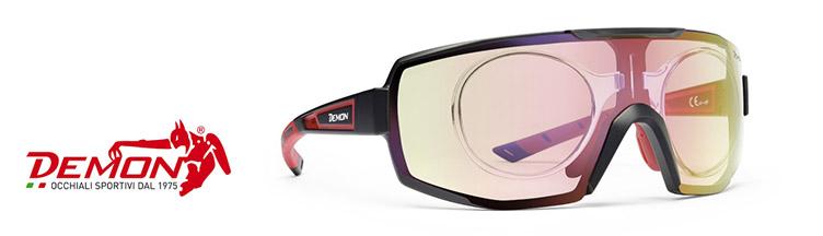 Occhiali sport Demon + lenti da vista personalizzate con sconto 10%